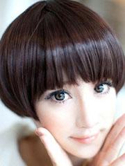 瓜子脸蘑菇头女生图片[5P]