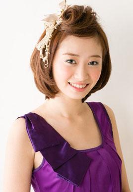 日系甜美短发新娘造型图片[7P]