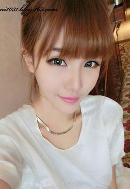甜美可爱的萌妹子齐刘海发型图片[5P]