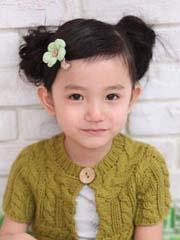小女孩发型绑扎图片 双发髻好可爱[3P]