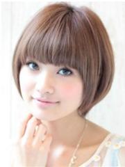 可爱蘑菇头短发发型图片女[5P]
