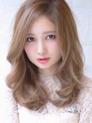 女生中长发流行发型图片连连看[5P]