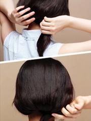 不想剪短发?长发变短发的韩式扎法图解[3P]