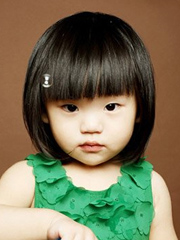 超可爱小女孩短发发型图片 齐刘海波波头+蘑菇头[5P]