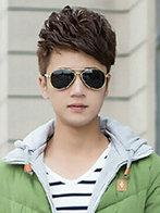 阳光帅气男生短发卷发发型图片[5P]