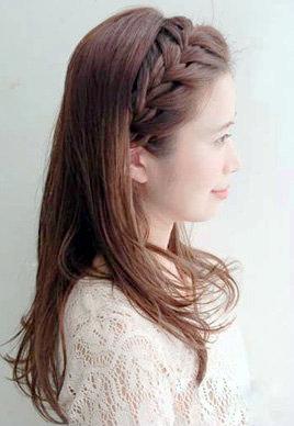 无刘海编发教程图解 露出额头甜美又清爽[9P]