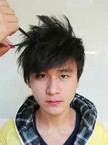 男生头顶蓬松的发型怎么弄图解[6P]