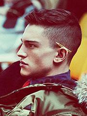 男士莫西干短发发型设计图片[6P]