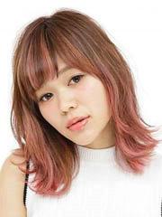 日本女士最流行发型图片 浅酒红色中长发超吸眼[6P]