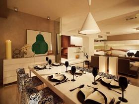温馨雅致现代风格三室两厅户型装修效果图