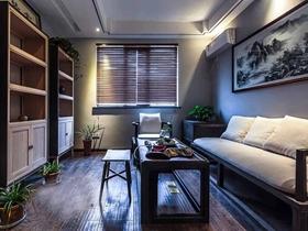 文艺清爽新中式三居装潢