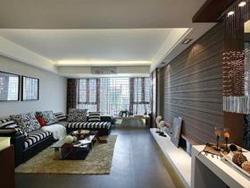 素雅简欧风格三居室装修实例欣赏