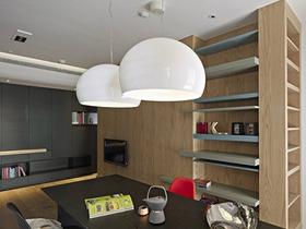 简欧风格小户型客厅餐厅一体装修效果图