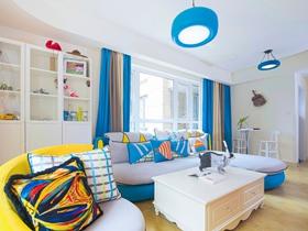 彩色地中海三居室设计案例
