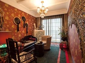 美式混搭风格四居室设计装修效果图