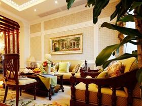 精致豪华中式三居装潢案例
