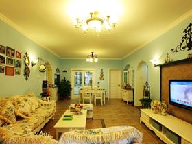 田园装修设计三室两厅欣赏图