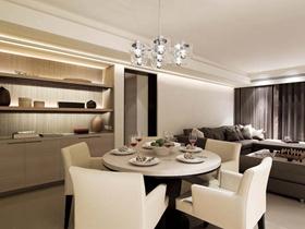 现代简约设计温暖舒适三居效果图