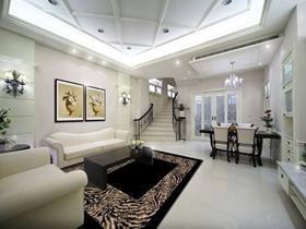 欧式白色雅致客厅吊顶美图欣赏