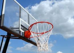 篮球场上的篮球框图片_10张