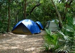 野外露营搭建的帐篷图片_13张
