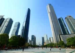 广州双子塔建筑风景图片_12张