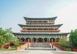 尼泊尔蓝毗尼中华寺中国寺庙建筑风景图片_8张