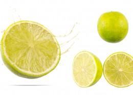 切开的新鲜柠檬图片_12张