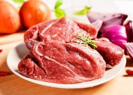 纹理清晰切好的红色的牛肉图片_9张