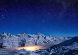 遥不可及的闪亮的星空图片_8张
