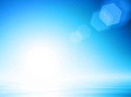 ppt背景图片蓝色水面与光斑