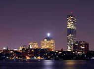 电脑高清桌面壁纸波士顿都市风光