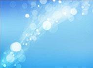 淡雅蓝色光斑浪漫精美背景图片