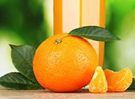 黄澄澄水果桔子超酷造型高清简约壁纸