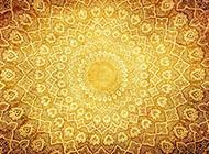 金色传统图案花纹背景图片大全