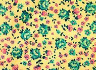 彩色印花布料复古背景图片