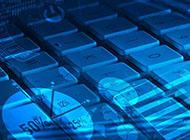 iphone键盘蓝色科技色彩背景图