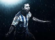 时尚阿根廷球星梅西宽屏高清壁纸