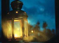 夜光中的一盏明灯唯美意境背景美图