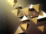 网页ppt背景图片立体三角形