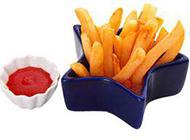 外脆里嫩的美式薯条图片