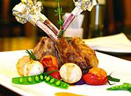 法式西餐香草羊排图片