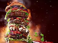 超级巨无霸汉堡包图片