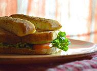 健康的蔬菜三明治图片