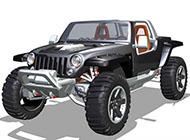 jeep汽车精美特写图片