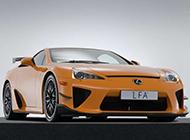 橙黄色雷克萨斯原始系超级跑车LFA
