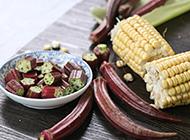 营养价值高的红色秋葵图片