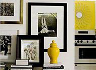 极简风黑白相片墙布置装修图