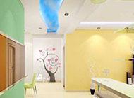 绚丽的色彩手绘走廊玄关装修效果图