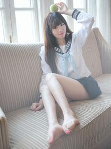 清纯水手服美女高清写真